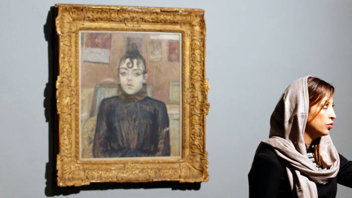 The collection includes work by Toulouse-Lautrec
