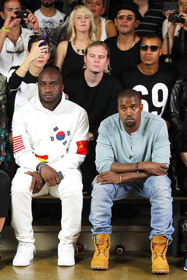 Virgil Abloh (@virgilabloh) with Kanye West (right)