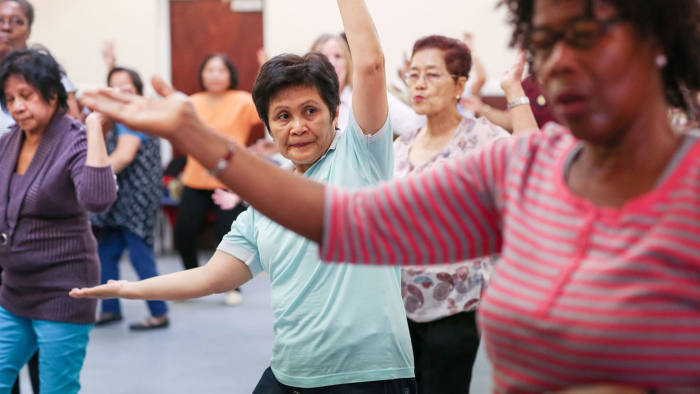 a zumba exercise class at Barking Road Community Centre in Plaistow