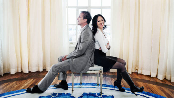 Amy Chua and her husband Jed Rubenfeld at their apartment in New York, November 26 2013