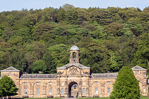 18th-century stable block at Chatsworth House