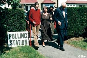 Zac Goldsmith with his family