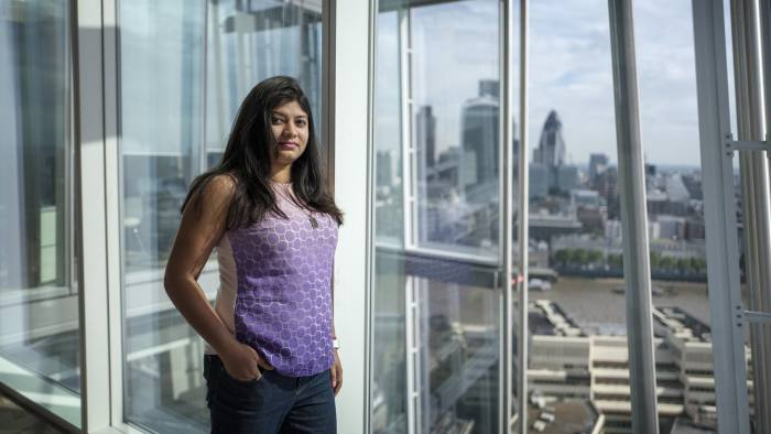 Joyeeta Daas, CEO of Gyana. Photographed in the Shard, London this morning.