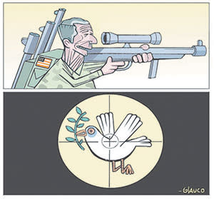 One of Glauco Villa Boas's op-ed cartoons