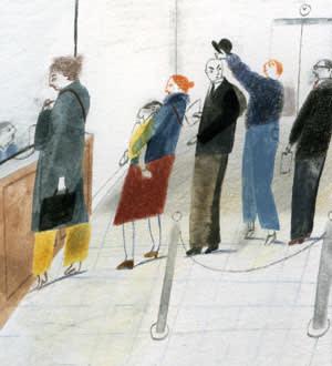 An illustration depicting curiosity