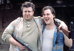 John Goodman in Raising Arizona (1987), with William Forsythe