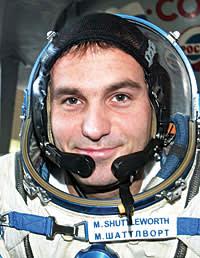 Mark Shuttleworth training for his spaceflight