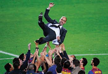 Former Barcelona coach Pep Guardiola