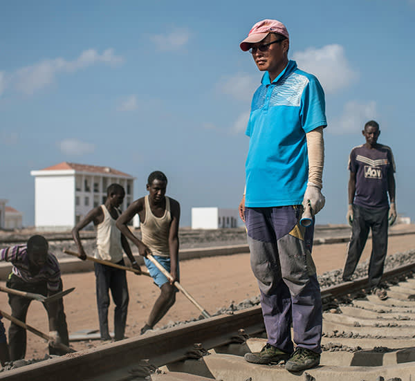 Bao Qi Chen, site manager on a new Chinese-financed railway line linking Djibouti with Ethiopia