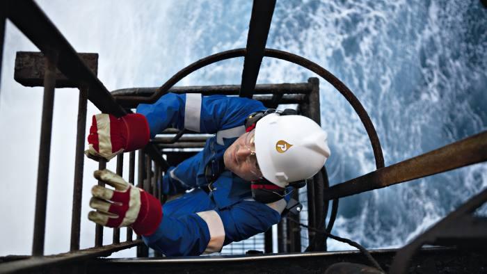 Petrofac employee on board the Kittiwake platform in the UK North Sea