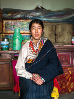 Dechen Wangmo, who was relocated from the grasslands to the city