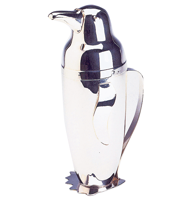 1930s penguin shaker by Napier, £3,600, pullmangallery.com