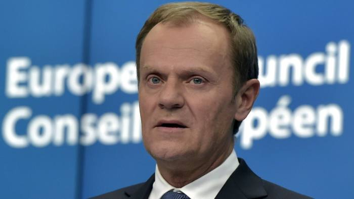 European Council President Tusk addresses a joint news conference following a European Union leaders summit in Brussels...European Council President Donald Tusk addresses a joint news conference following a European Union leaders summit in Brussels, March 19, 2015. REUTERS/Eric Vidal