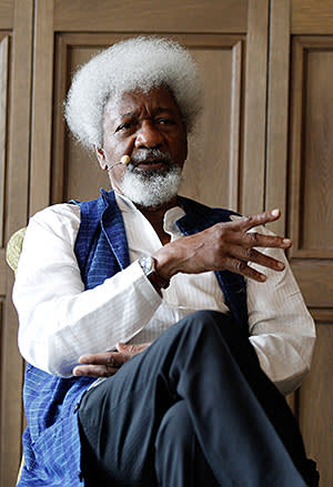 Wole Soyinka at a cultural event in Berlin in 2012