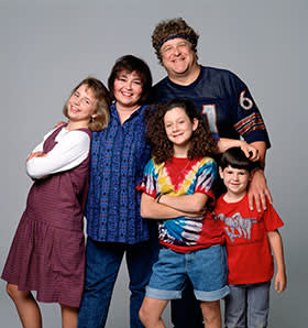 The cast of Roseanne (1988-1997)