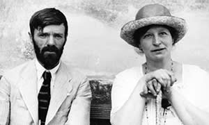 Lawrence with Frieda in Mexico in 1923
