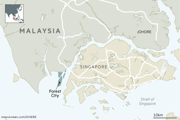 Map: Forest City, Malaysia