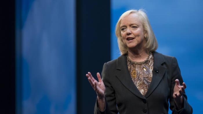 Meg Whitman, chief executive of Hewlett Packard Enterprise