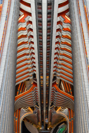 Interior of the Atlanta Marriott Marquis hotel (1985) designed by John Portman
