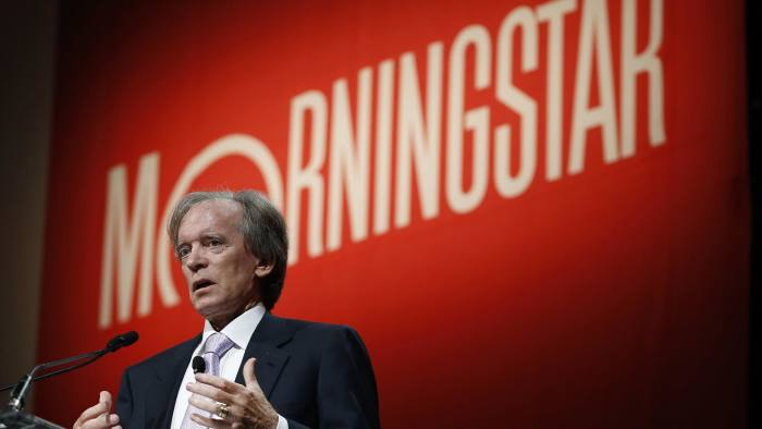 02 Jul 2014, Chicago, Illinois, USA --- Bill Gross, co-founder and co-chief investment officer of Pacific Investment Management Company (PIMCO), speaks at the Morningstar Investment Conference in Chicago, Illinois, in this June 19, 2014 file photo. Gross' Pimco Total Return Fund, the world's largest bond fund, posted $4.5 billion in net outflows in June, marking its 14th straight month of investor withdrawals despite improving performance, Morningstar data showed on July 2, 2014. REUTERS/Jim Young/Files (UNITED STATES - Tags: BUSINESS) --- Image by © JIM YOUNG/Reuters/Corbis