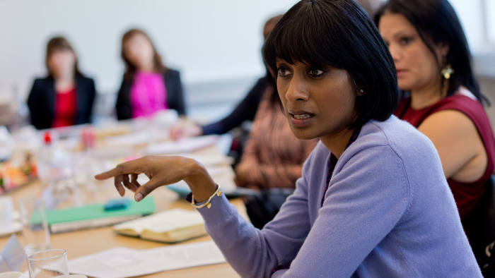 a Women for the Board session at Westminster Business School in the UK