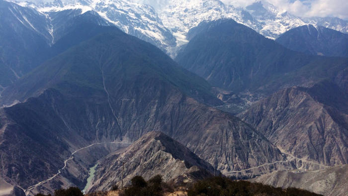 Deqin county in Diqing prefecture, 35km from the Tibetan border