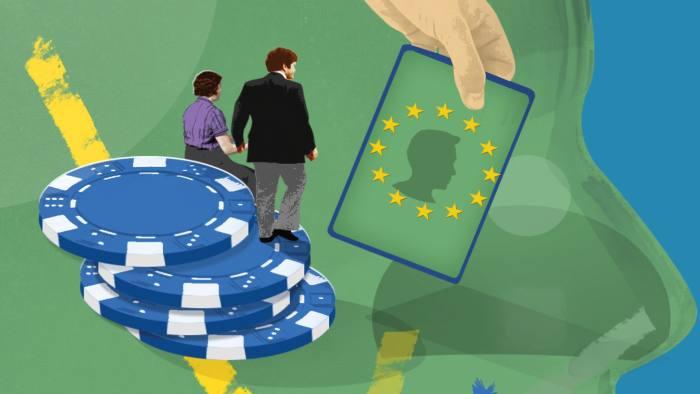 Illustration of EU green card