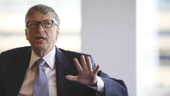 Bill Gates, talks to the FT in OSB this afternoon.