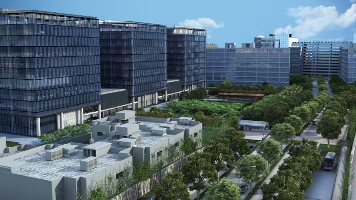 A rendering of the new Goldman Sachs Bengaluru, Bangalore campus to open in 2019 from PR