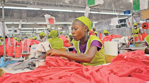 Haiti's economy held together by polo shirts and blue jeans