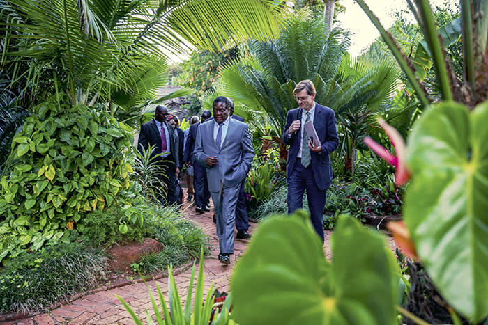 I'm not a crocodile': Zimbabwe's president has Lunch with the FT