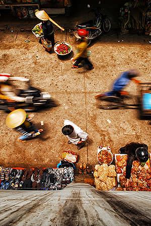 A street market in Ho Chi Minh City