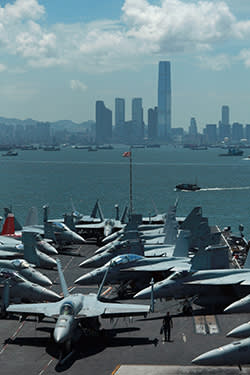 The USS George Washington in Hong Kong
