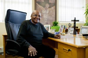 Tutu at the Desmond and Leah Tutu Legacy Foundation offices
