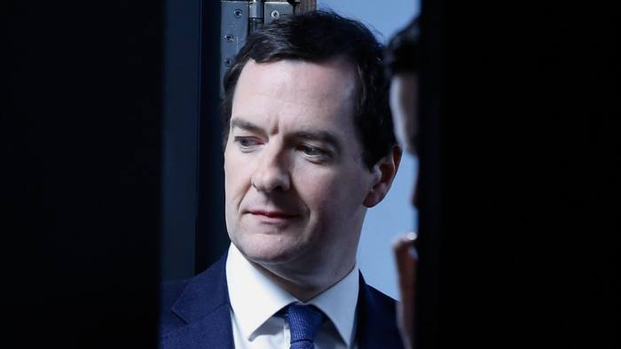 George Osborne, U.K. chancellor of the exchequer, waits backstage before speaking during the 2016 British Chamber of Commerce (BCC) annual conference in London, U.K., on Thursday, March 3, 2016. Alternative trading arrangements with the European Union in the event of a British departure from the bloc would pose 'serious risks' to the prosperity of Britain, Prime Minister David Cameron's government said. Photographer: Luke MacGregor/Bloomberg *** Local Caption *** George Osborne