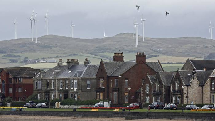 Wind turbines manufactured by Vestas Wind Systems stand at the Ardrossan windfarm, operated by Infinis Energy Plc, a unit of Terra Firma Capital Partners