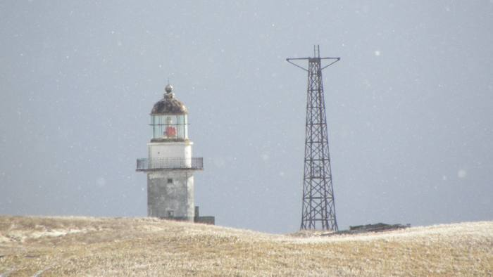 Big Read feature by Kathrin Hille - Kuril Islands - Shikotan's Japanese-era lighthouse, now used by the Russian military