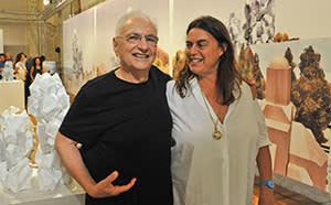Gehry with Maja Hoffmann