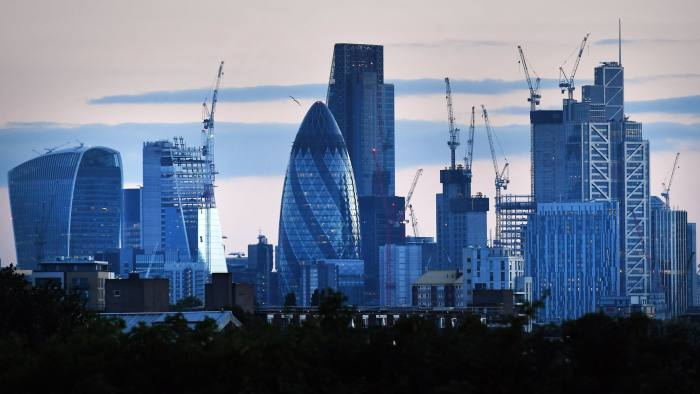 epa06129932 A photograph released 07 August 2017 shows the UK's financial heart, the City of London in London, Britain, 06 July 2017. Reports state the future of London as the world's financial hub may be in jeopardy after Brexit as a number of leading international financial institutions and banks have already announced they will move their operational headquarters to continental EU countries. Among the competing cities hoping to benefit from the re-location of banks are Frankfurt, Amsterdam, Dublin and Paris, all cities located in a EU member country. EPA/ANDY RAIN