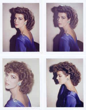 Polaroids of Princess Caroline of Monaco (1983) by Andy Warhol