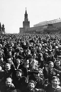 Victory Day celebrations in Red Square, Moscow, on May 9 1945
