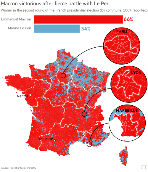 French election results: Macron's victory in charts