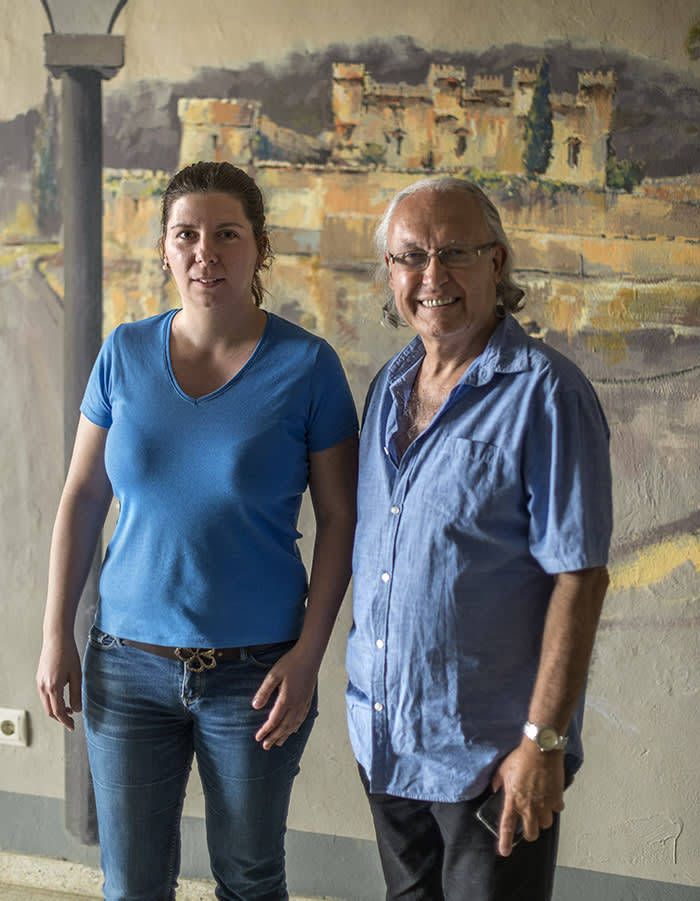 Marta Encuentra (pictured with Carles Móra, former mayor of Arenys)