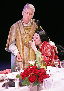 Lucy Briers and Catherine McCormack in the 2011 production of 'Top Girls'