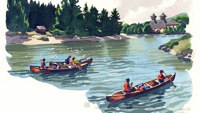 Illustration by Matthew Cook of the river Spey