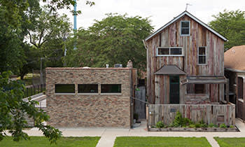 The Archive House, part of Dorchester Projects, was reconstructed using discarded resources