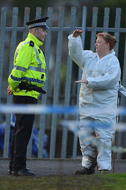 Forensic anthropologist Professor Sue Black of Dundee University at Monkland Cemetery where they are starting to examine a burial plot on January 8, 2013 in Coatbridge, Scotland