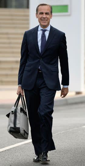 Mark Carney carrying a man bag