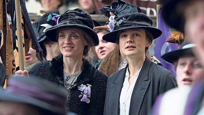 Anne-Marie Duff and Carey Mulligan in the film 'Suffragette', written by Abi Morgan