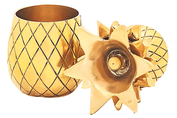 Gold Pineapple shot glasses, £32 for two, notonthehighstreet.com